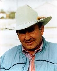 Vic Fischer, owner of FISCHER ANGUS QUARTER HORSES